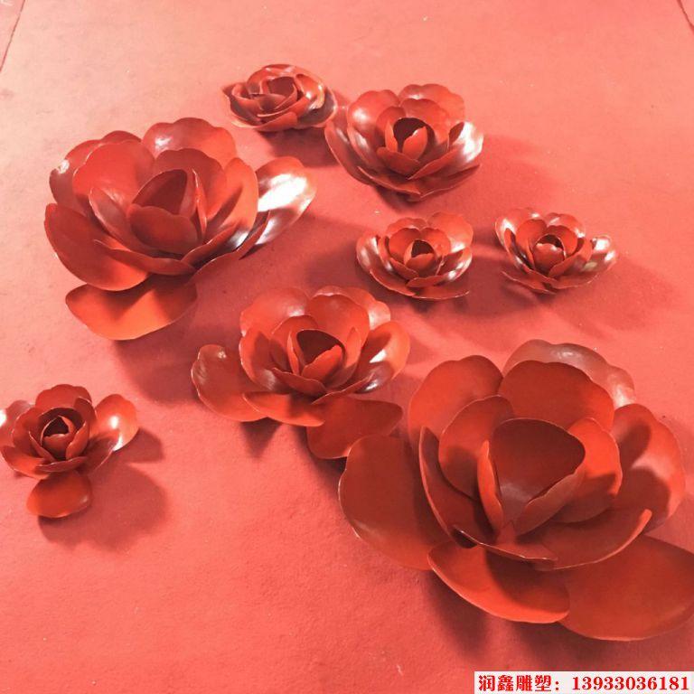 红玫瑰花雕塑