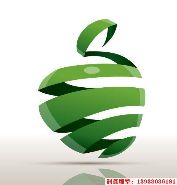 绿苹果雕塑